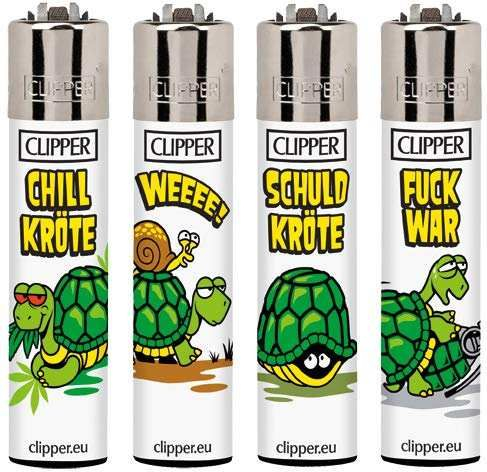 Clipper Feuerzeuge 4er Set: SCHILDKR™TEN