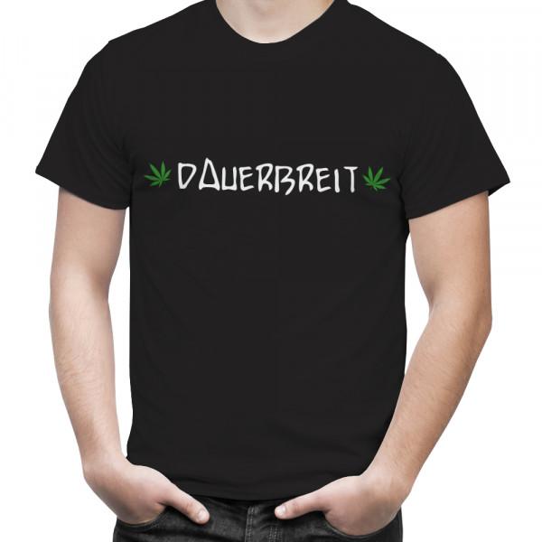 """T-Shirt mit Hanfblatt """"Dauerbreit"""""""