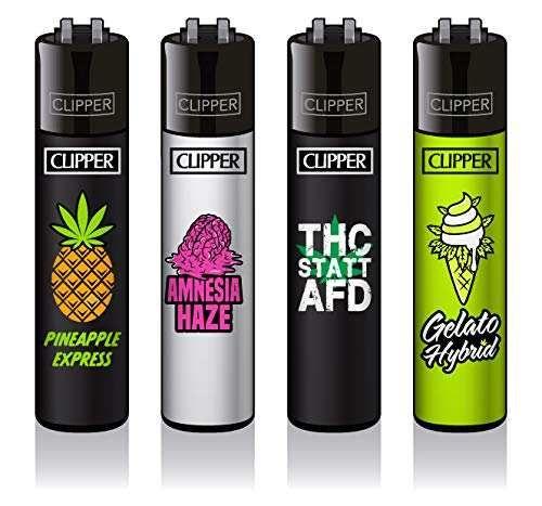 Clipper Feuerzeuge 4er Set: 420 Slogan #2 - FFX -Serie