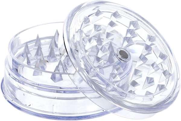 3-teiliger Premium Kunststoff Grinder Durchsichtig