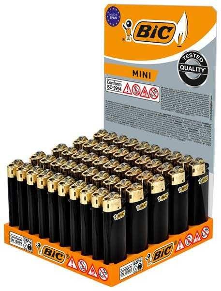 BIC Feuerzeug: Reibrad Mini Schwarz-Gold J25 - 50er Display