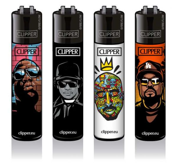 Clipper® Feuerzeuge 4er Set: Hip-Hop Legends