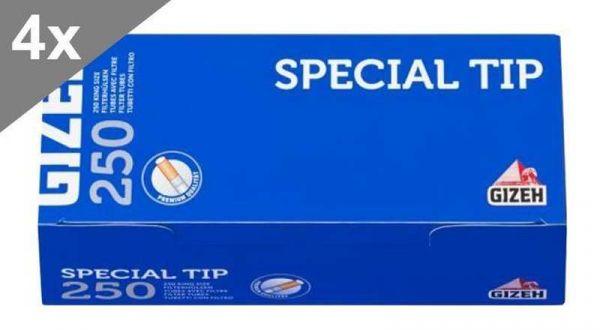 Gizeh Special Tip, 250 Hülsen, 4er Gebinde