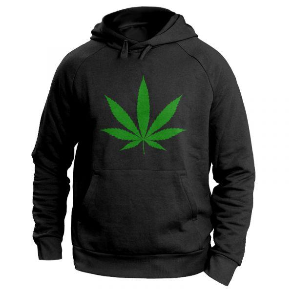 """Kiffer Hoodie mit Hanfblatt """"Cannabis blatt"""""""